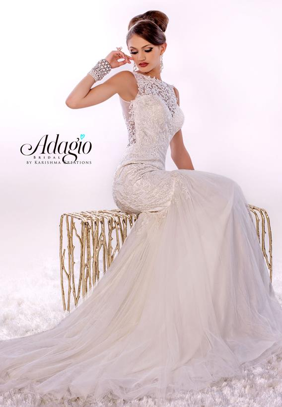 Tulle/Lace Ivory,White W9269