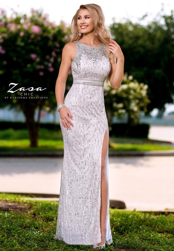 Beaded Tulle Black,White Z2091