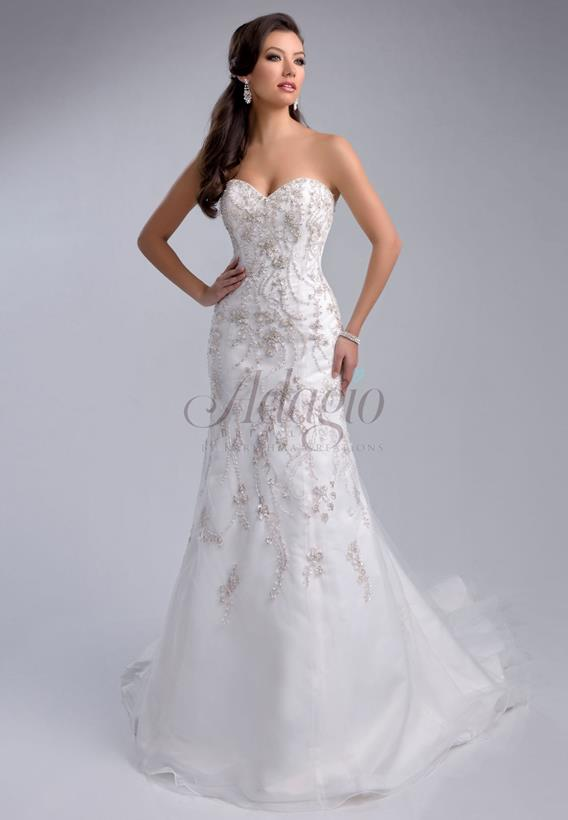 BEADED TULLE  IVORY,WHITE W9212