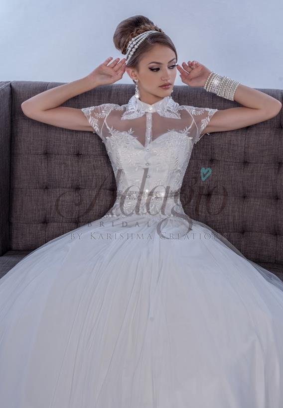 Tulle/ Lace Ivory,White W9271