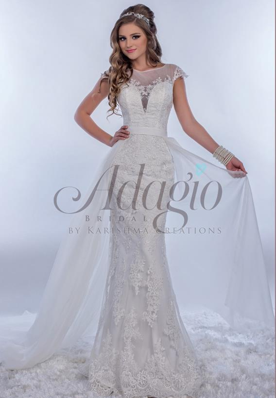 Tulle/ Lace Ivory,White W9273